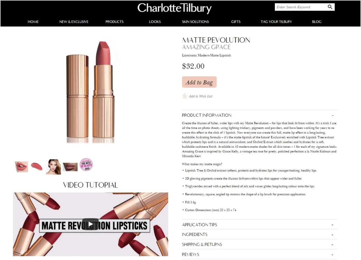 Charlotte Tillbury Lipstick