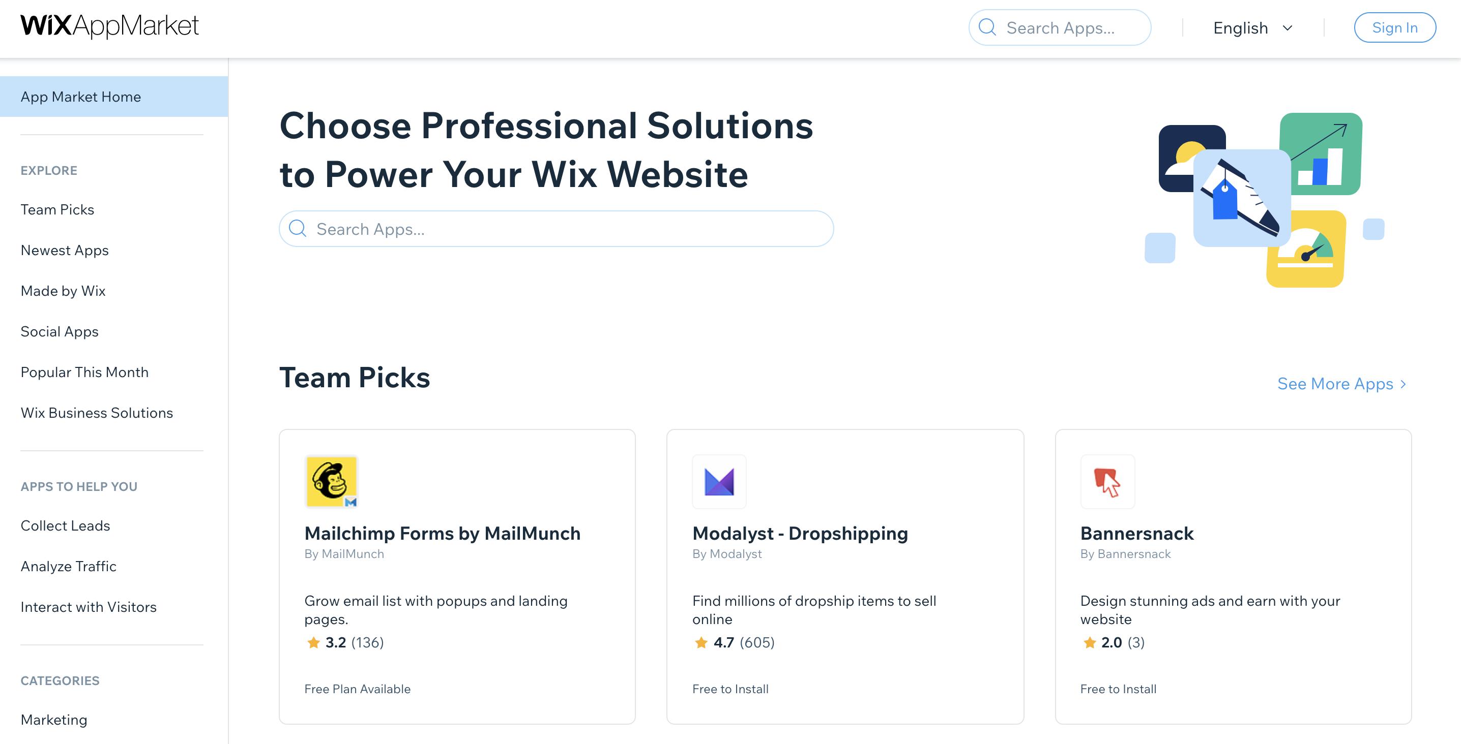 wix app marketplace